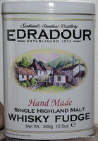 Edradour Whisky Fudge Handmade 300 g Tin, Gardiners of Scotland
