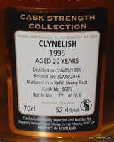 Clynelish 1995/ 2016, 20 Jahre Signatory Cask Strength Collection