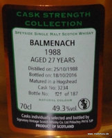 Balmenach 1988, 27 Jahre, Signatory Cask Strength Collection