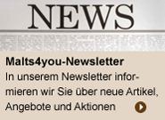 Informiert sein mit dem Malts4you-Newsletter